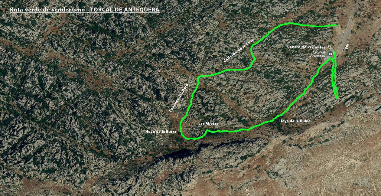 torcal de antequera rutas, rutas verde de trekking, fotos torcal de antequera