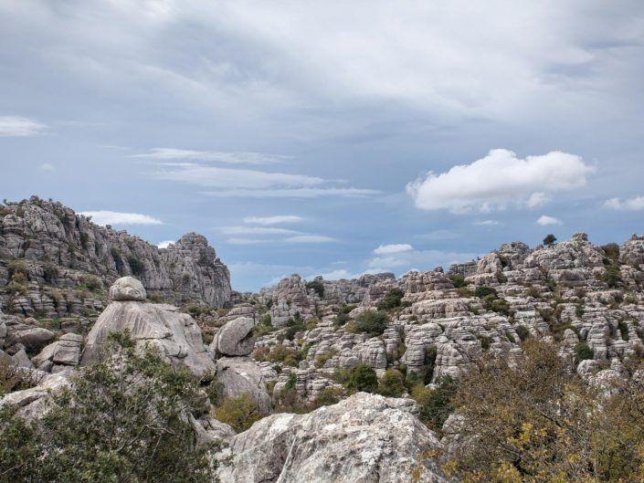 roca kárstica en el torcal de antequera