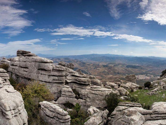 Vista panorámica de el torcal de Antequera