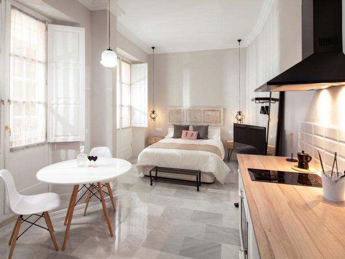 Fotografía de interiores de casa en piso turístico de Málaga