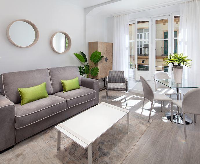 interior de apartamento turistico en malaga con realidad virtual para inmobiliarias