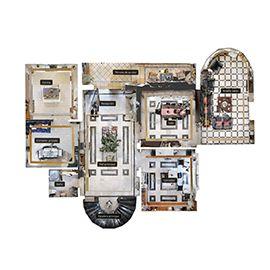 vista en planta 2D matterport